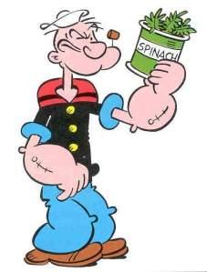 Popeye foi inventado pelos produtores de espinafre para vender mais o vegetal