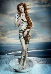 Fernanda Tavares  de Thiago Costackz como a Venus de Botticelli