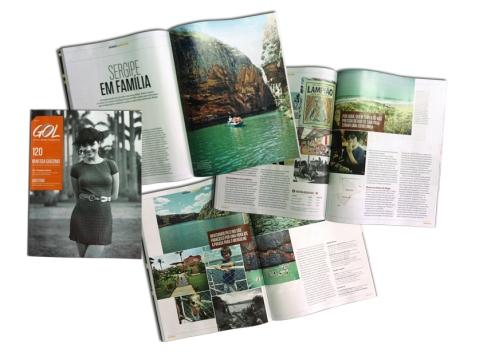 Matéria Patricia Papp na Revista da Gol: Sergipe em família