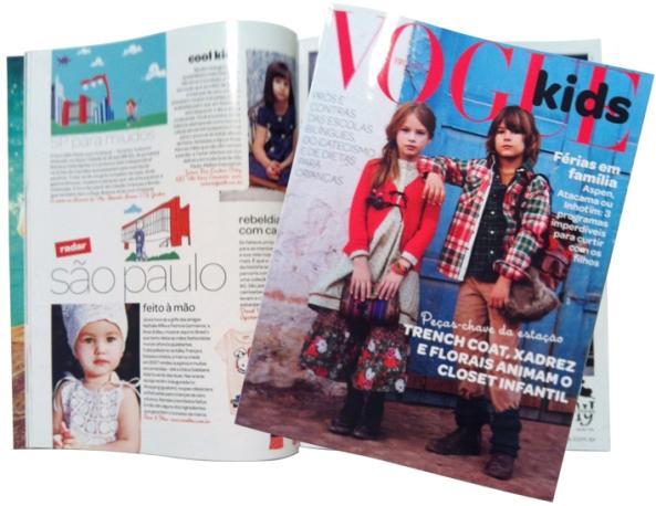 SP com Crianças na edição de junho/2012 da Vogue Kids