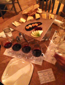 Wine and cheese flight no Bin 36