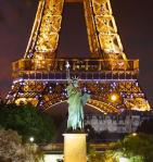 New York meets Paris: dois pontos turísticos na mesma foto ;-)