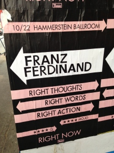 Já no dia 22 de outubro, vai ter show do Franz Ferdinand no Hammerstein Ballroom!