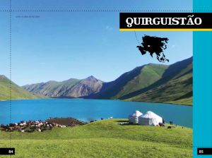 Quirguistão é um dos países por onde passam. Todo o livro é ilustrado com lindas fotos!