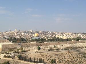 Cidade Antiga de Jerusalém vista desde o Monte das Oliveiras