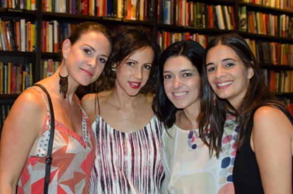 Eneida Ribeiro, Melina Veloso, Tetê Meyer e Fernanda Ávila, curitibanas que vivem no Rio.