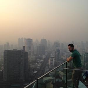 Meu amigo Tom no Octave Rooftop (a dica do lugar foi dele).