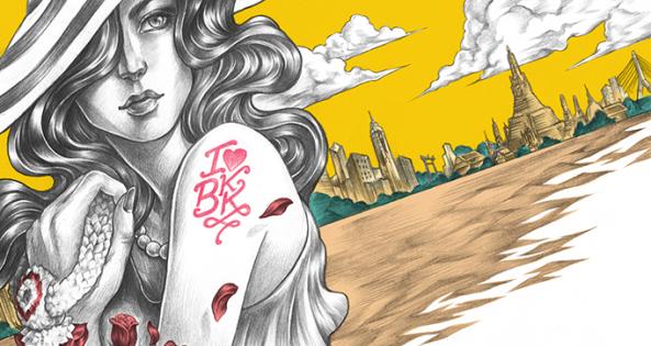 Ilustração do artista gráfico tailandês MARCHroom